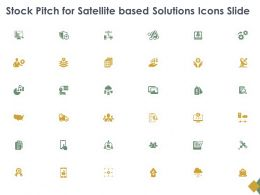 Stock Pitch For Satellite Based Solutions Icons Slide Gear L897 Ppt Model