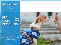 Stock Pitch Pet Care Products Powerpoint Presentation Slides
