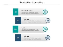 Stock Plan Consulting Ppt Powerpoint Presentation Slides Structure Cpb