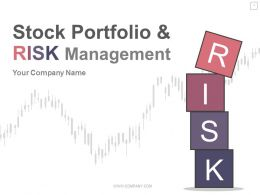 Stock Portfolio And Risk Management PowerPoint Presentation With Slides