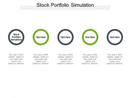 Stock Portfolio Simulation Ppt Powerpoint Presentation Model Gridlines Cpb