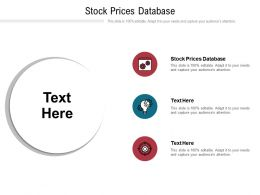 Stock Prices Database Ppt Powerpoint Presentation Show Slides Cpb