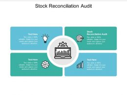 Stock Reconciliation Audit Ppt Powerpoint Presentation Professional Inspiration Cpb
