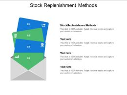 Stock Replenishment Methods Ppt Powerpoint Presentation Slides Graphics Template Cpb