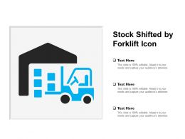 Stock Shifted By Forklift Icon