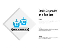 Stock Suspended On A Belt Icon