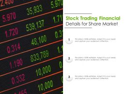 Stock Trading Financial Details For Share Market