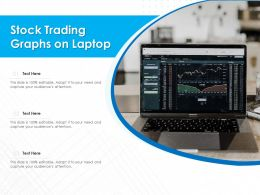Stock Trading Graphs On Laptop