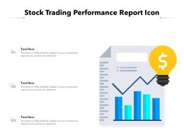 Stock Trading Performance Report Icon