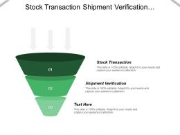 Stock Transaction Shipment Verification Business Intelligence News Portals