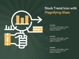Stock Trend Icon With Magnifying Glass