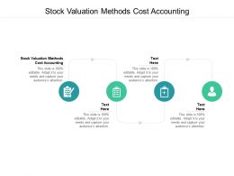 Stock Valuation Methods Cost Accounting Ppt Powerpoint Presentation Deck Cpb