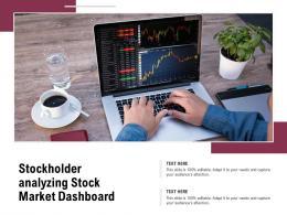 Stockholder Analyzing Stock Market Dashboard