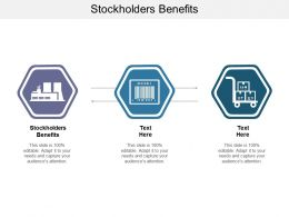 Stockholders Benefits Ppt Powerpoint Presentation Slides Outfit Cpb