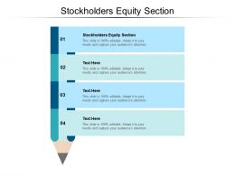 Stockholders Equity Section Ppt Powerpoint Presentation Summary Smartart Cpb
