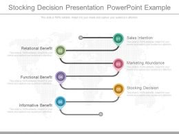 Stocking Decision Presentation Powerpoint Example