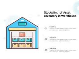 Stockpiling Of Asset Inventory In Warehouse