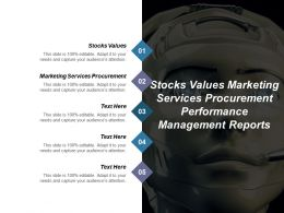 Stocks Values Marketing Services Procurement Performance Management Reports Cpb