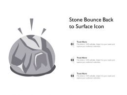 Stone Bounce Back To Surface Icon