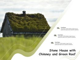 Stone House With Chimney And Green Roof