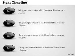 Stone Timeline Powerpoint Template Slide