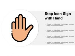 Stop Icon Sign With Hand