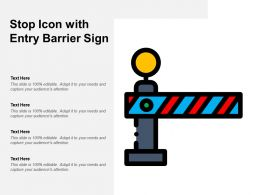 Stop Icon With Entry Barrier Sign