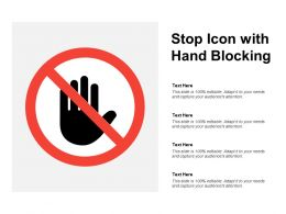 Stop Icon With Hand Blocking