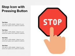 Stop Icon With Pressing Button
