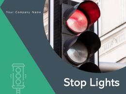 Stop Lights Starting Street Crosswalk Pedestrians Cyclists
