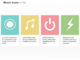 Stop Music Node Power Button Spark Ppt Icons Graphics