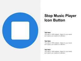 Stop Music Player Icon Button