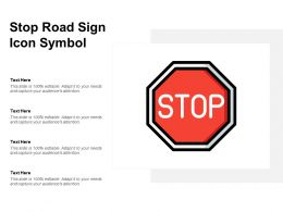 Stop Road Sign Icon Symbol