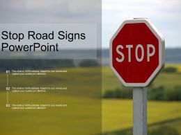 Stop Road Signs Powerpoint