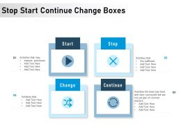 Stop Start Continue Change Boxes