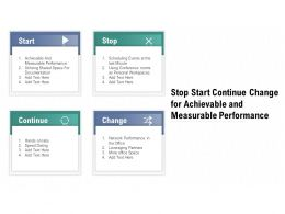 Stop Start Continue Change For Achievable And Measurable Performance