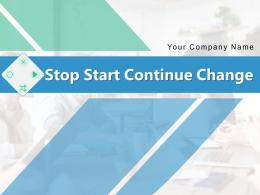 Stop Start Continue Change Process Organizational Measurable Performance Square Graphic