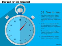 Stop Watch For Time Management Flat Powerpoint Design