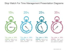 Stop Watch For Time Management Presentation Diagrams