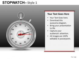 Stopwatch 1 Powerpoint Presentation Slides DB