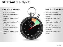 Stopwatch 2 Powerpoint Presntation Slides DB