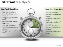 Stopwatch 3 Powerpoint Presentation Slides DB