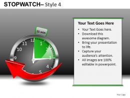 Stopwatch 4 Powerpoint Presntation Slides DB