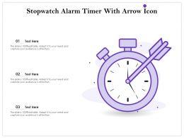 Stopwatch Alarm Timer With Arrow Icon