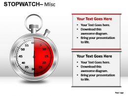 Stopwatch Misc Powerpoint Presentation Slides