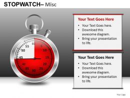 Stopwatch Misc Powerpoint Presentation Slides DB