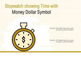 Stopwatch Showing Time With Money Dollar Symbol