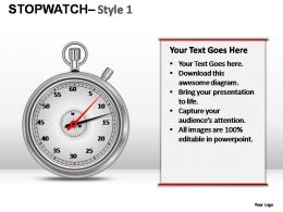 Stopwatch Style 1 Powerpoint Presentation Slides