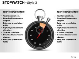 Stopwatch Style 2 Powerpoint Presentation Slides