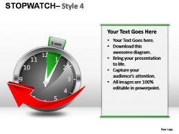 Stopwatch Style 4 Powerpoint Presentation Slides